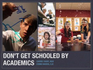 don't get schooled by academics