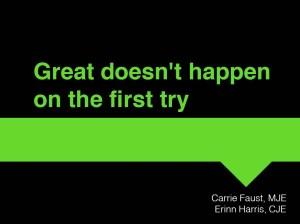 great doesn't happen